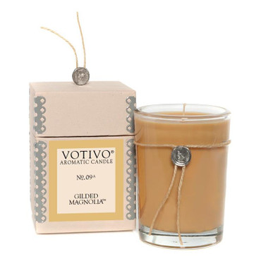 Votivo Aromatic Candle Gilded Magnolia Boxed Candle