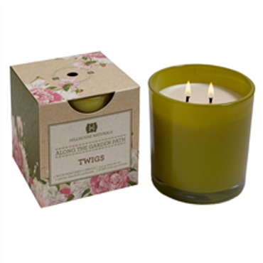 Hillhouse Naturals Along the Garden Collection: Twigs Glass Candle