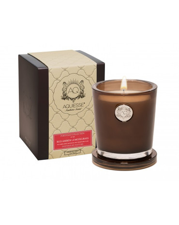 Aquiesse Portfolio Collection Red Amber Lemongrass Large Soy Candle