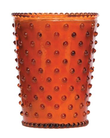 Simpatico No. 21 Amber Hobnail Glass Candle