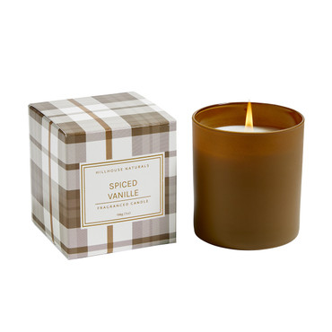 Hillhouse Naturals Spiced Vanille Brown Glass Boxed Candle