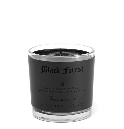 Archipelago Black Forest Collection Letter Press Candle