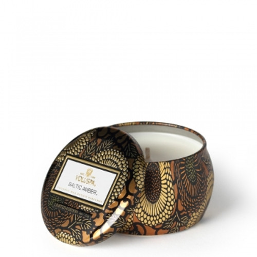 Voluspa Japonica Collection Baltic Amber Limited Edition Travel Tin Candle