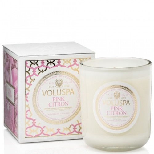 Voluspa Maison Blanc Collection Pink Citron Classic Maison Candle