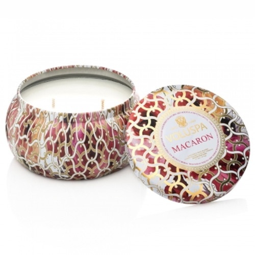Voluspa Maison Blanc Collection Macaron Two Wick Tin Candle