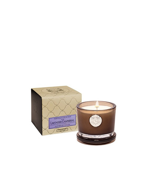 Aquiesse Portfolio Collection Lavender Chaparral Small Soy Candle