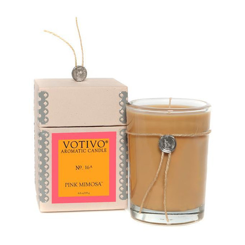 Votivo Aromatic Collection Pink Mimosa Boxed Candle