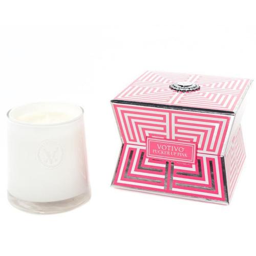 Votivo Soziety Collection Pink Mimosa Pucker Up Pink Jar Candle