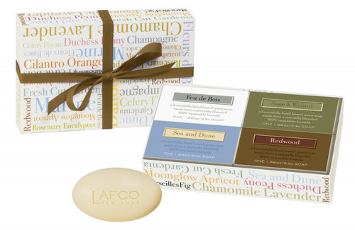 LAFCO House & Home For Him - 4 Bar Soap Guest Gift Set