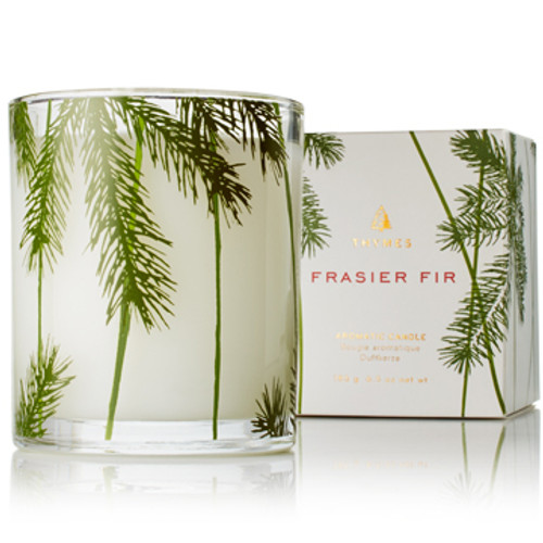 Thymes Frasier Fir Collection Pine Needle Glass Candle