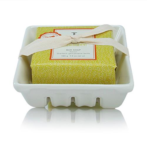 Thymes Mandarin Coriander Collection Bar Soap and Dish Set