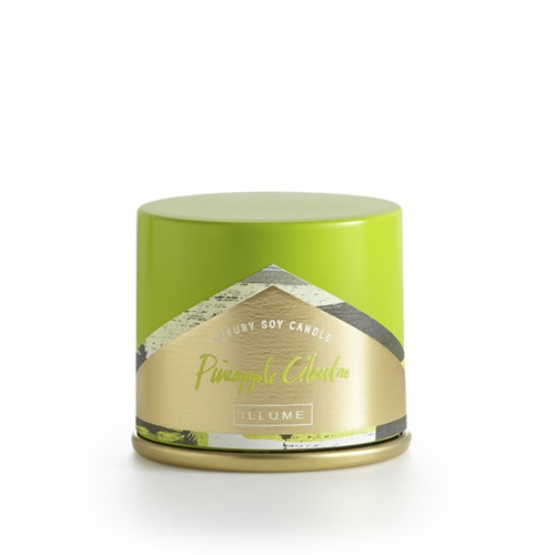 Illume Pineapple Cilantro Demi Vanity Tin Candle