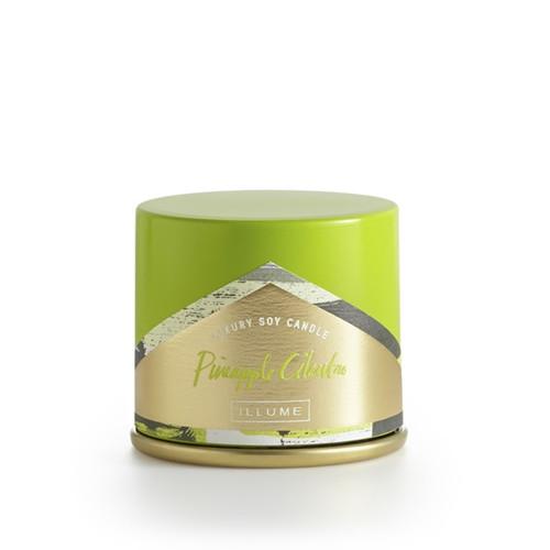 Illume Pineapple Cilantro Demi Vanity Tin Candle