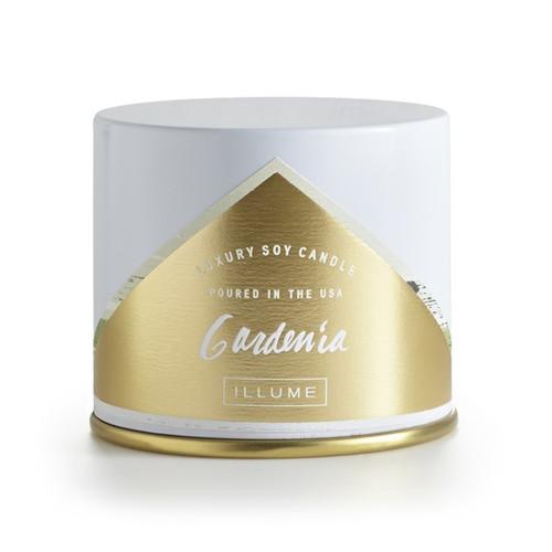 Illume Gardenia Vanity Tin Candle