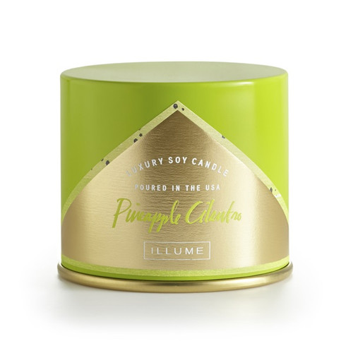Illume Pineapple Cilantro Vanity Tin Candle