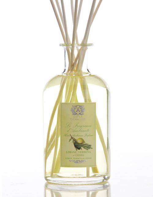 Antica Farmacista Lemon Verbena & Cedar Home Ambience Reed Diffuser - 500 ml.