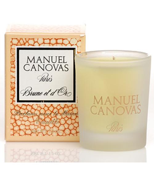 Manuel Canovas Brune et d'Or Votive Glass Candle