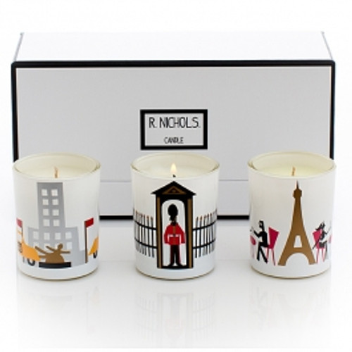 R. Nichols Jetsetter Glass Votive Trio