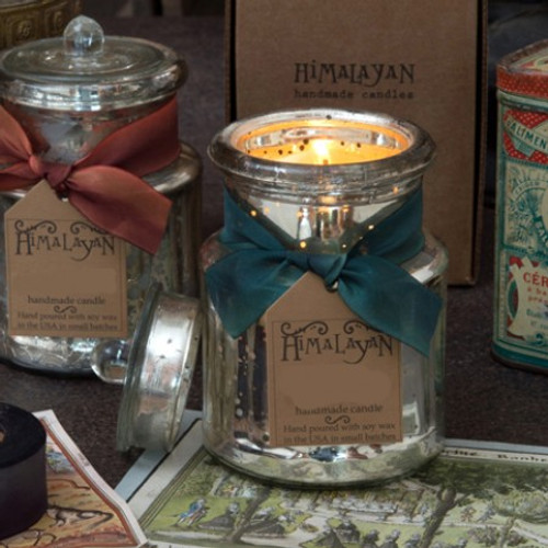 Himalayan Trading Post Vintage Collection Mistletoe General Store Jar Candle