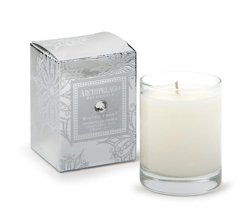 Archipelago Holiday Collection Winter Frost Boxed Votive Candle
