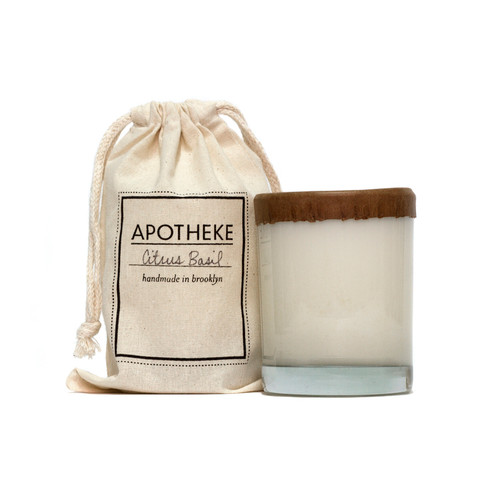 Apotheke Bamboo Whiskey Glass Soy Candle