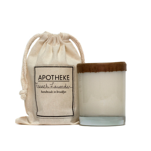 Apotheke French Lavender Whiskey Glass Soy Candle