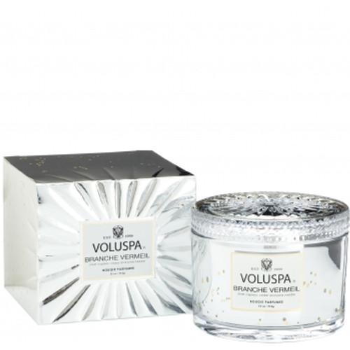 Voluspa Vermeil Collection Branch Vermeil Boxed Candle