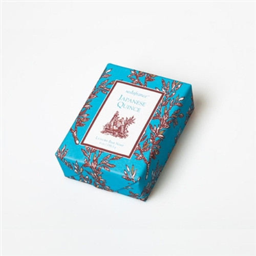 Seda France Japanese Quince Classic Toile Paper Wrapped Bar Soap