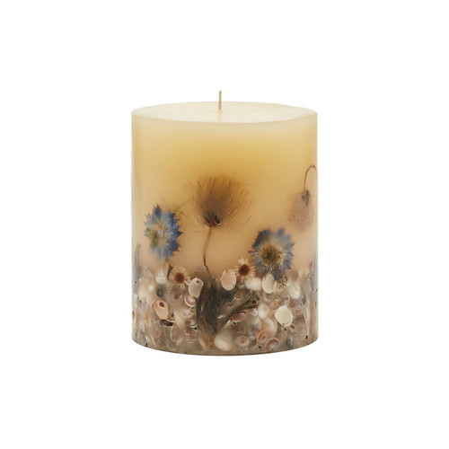 Rosy Rings Beach Daisy Botanical 4.5 x 5.5 Pillar Candle