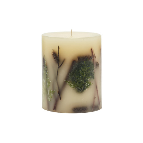 Rosy Rings Collection Forest Botanical 4.5 x 5.5 Pillar Candle