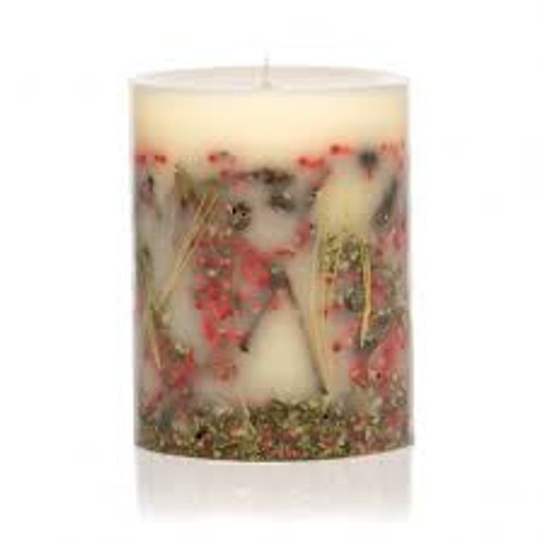 Rosy Rings Red Currant & Cranberry Botanical 4.5 x 5.5 Pillar Candle
