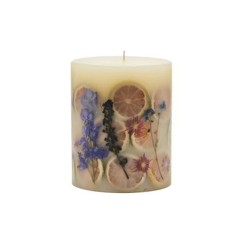 Rosy Rings Signature Collection Roman Lavender Botanical 4.5 x 5.5 Pillar Candle