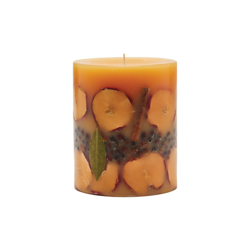 Rosy Rings Signature Collection Spicy Apple Botanical 4.5 x 5.5 Pillar Candle