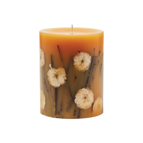 "Rosy Rings Signature Collection Honey Tobacco Botanical 5"" x 6.5"" Pillar Candle"