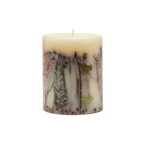 "Rosy Rings Signature Collection Red Currant & Cranberry Botanical 4.5"" x 5.5""Pillar Candle"