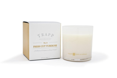 Trapp Candles No. 8 Fresh Cut Tuberose - 8.75 oz. Poured Candle