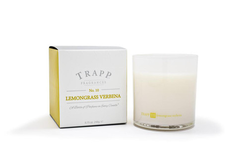 Trapp Candles No. 10 Lemongrass Verbena - 8.75 oz. Poured Candle
