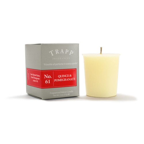 No. 61 Trapp Candle Quince & Pomegranate - 2oz. Votive Candle