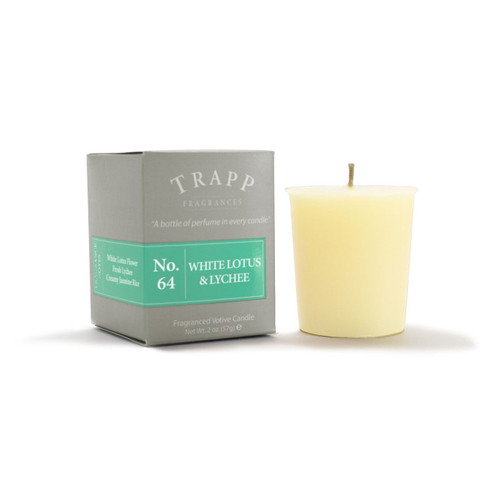 No. 64 Trapp Candle White Lotus & Lychee - 2oz. Votive Candle