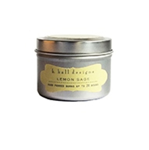K. Hall Designs Lemon Sage Travel Tin Candle