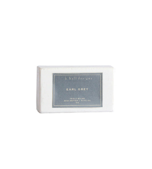 K. Hall Designs Earl Grey Triple Milled Shea Butter Bar Soap