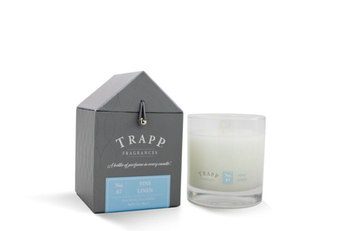 No. 67 Trapp Candle Fine Linen - 7oz. Poured Candle