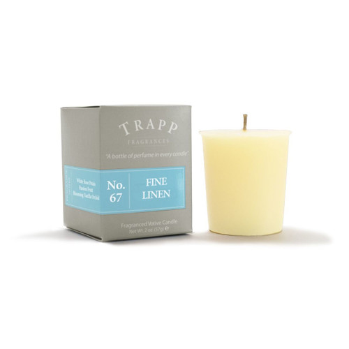 No. 67 Trapp Candle Fine Linen - 2oz. Votive Candle