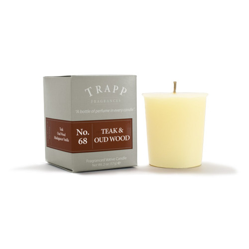 No. 68 Trapp Candle Teak & Oud Wood - 2oz. Votive Candle