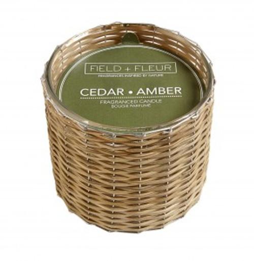 Hillhouse Naturals Cedar Amber Hand Woven 2-Wick Candle