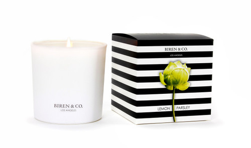 Biren & Co. Lemon Parsley Boxed Candle Tulip Collection