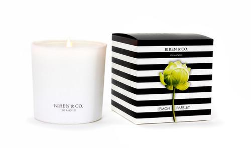 Biren & Co. Lemon Parsley Boxed Candle Tulip Collection
