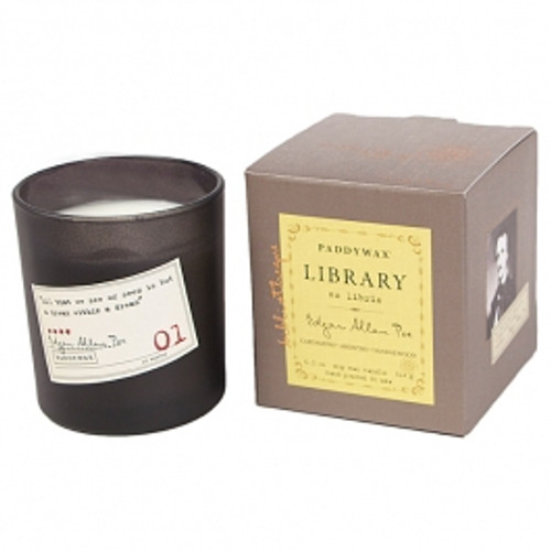 Paddywax Edgar Allan Poe Library Boxed Candle