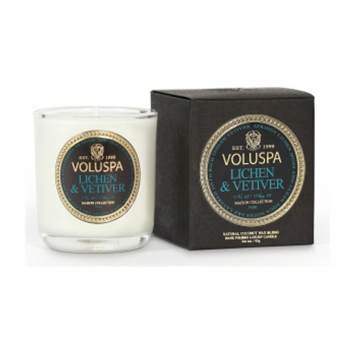 Voluspa Maison Noir Collection Lichen & Vetiver Votive Candle