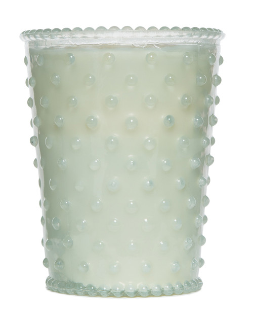 Simpatico No. 85 Snow Hobnail Glass Candle Holiday